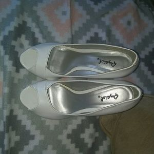 Cute open toe heels
